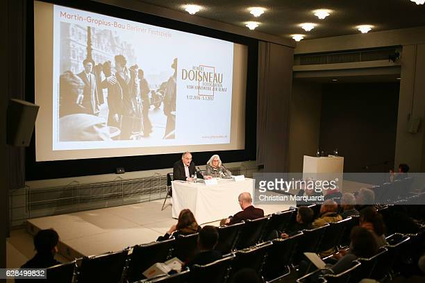 Gereon Sievernich Director MartinGropiusBau and Francine Deroudille Atelier Robert Doisneau CoCurator of the exhibition attend a press conference...