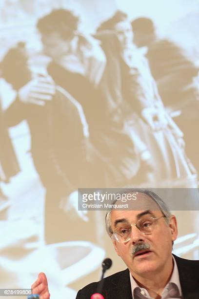 Gereon Sievernich Director MartinGropiusBau attends a press conference during the 'Robert Doisneau Fotografien' press conference and exhibition...