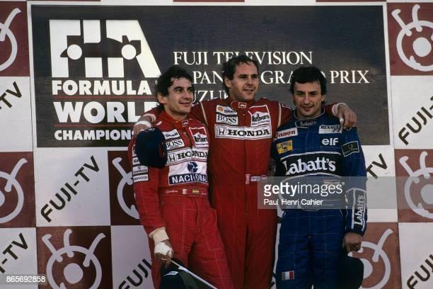 Gerhard Berger Ayrton Senna Ricardo Patrese Grand Prix of Japan Suzuka Circuit 20 October 1991