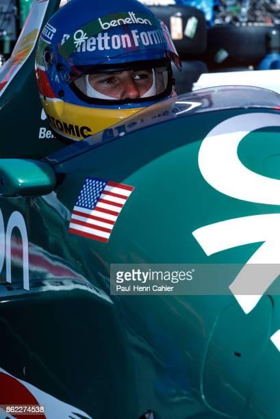 Gerhard Berger BenettonBMW B186 Grand Prix of Detroit Detroit street circuit 22 June 1986
