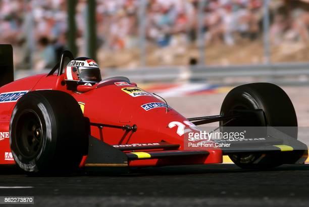 Gerhard Berger Ferrari F1/87 Grand Prix of France Circuit Paul Ricard 05 July 1987
