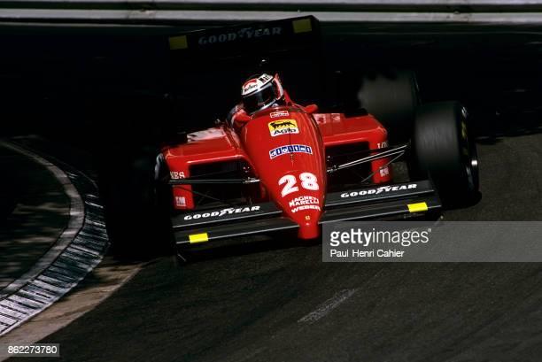 Gerhard Berger Ferrari F1/87 Grand Prix of Monaco Circuit de Monaco 31 May 1987