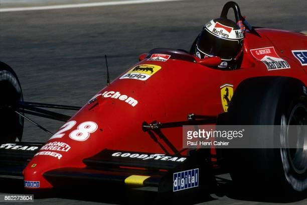 Gerhard Berger Ferrari F1/87/88C Grand Prix of Portugal Autodromo do Estoril 25 September 1988