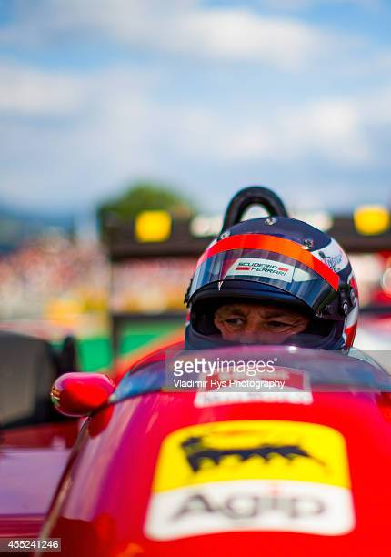 Gerhard Berger is pictured during the Race of Legends following qualifying for the Austrian Formula One Grand Prix at Red Bull Ring on June 21 2014...