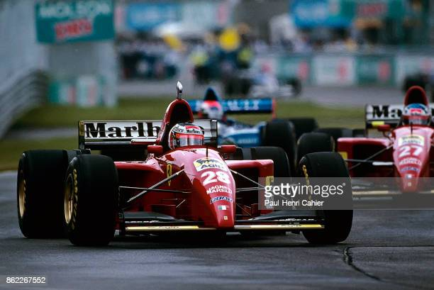 Gerhard Berger Jean Alesi Ferrari 412T2 Grand Prix of Canada Circuit Gilles Villeneuve 11 June 1995 Gerhard Berger leads teammate Jean Alesi in the...
