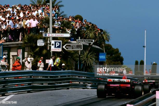 Gerhard Berger Jean Alesi Ferrari 412T2 Grand Prix of Monaco Circuit de Monaco 28 May 1995 Gerhard Berger chases teammate Jean Alesi in the 1995...