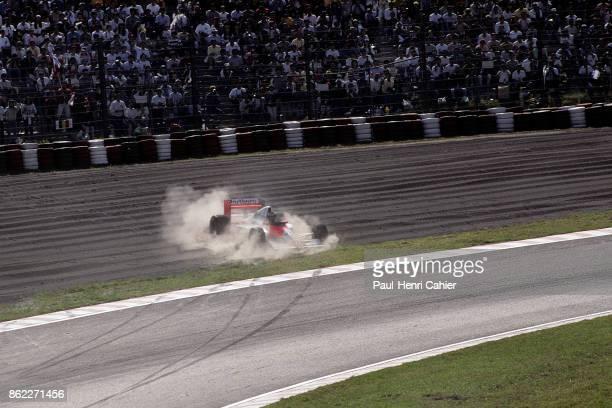 Gerhard Berger McLarenHonda MP4/5B Grand Prix of Japan Suzuka Circuit 21 October 1990 Gerhard Berger skids off the track in the 1989 Grand Prix of...