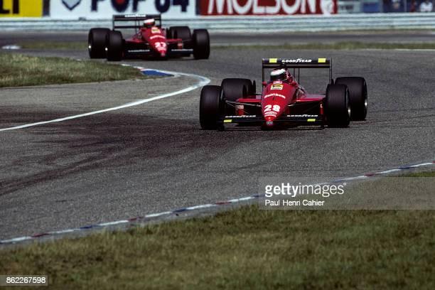 Gerhard Berger Michele Alboreto Ferrari F1/87/88C Grand Prix of Germany Hockenheimring 24 July 1988
