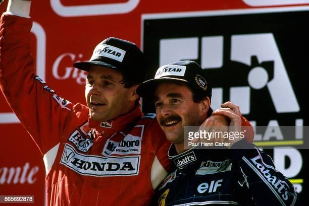 Gerhard Berger Nigel Mansell Grand Prix of Portugal Autodromo do Estoril 27 September 1992