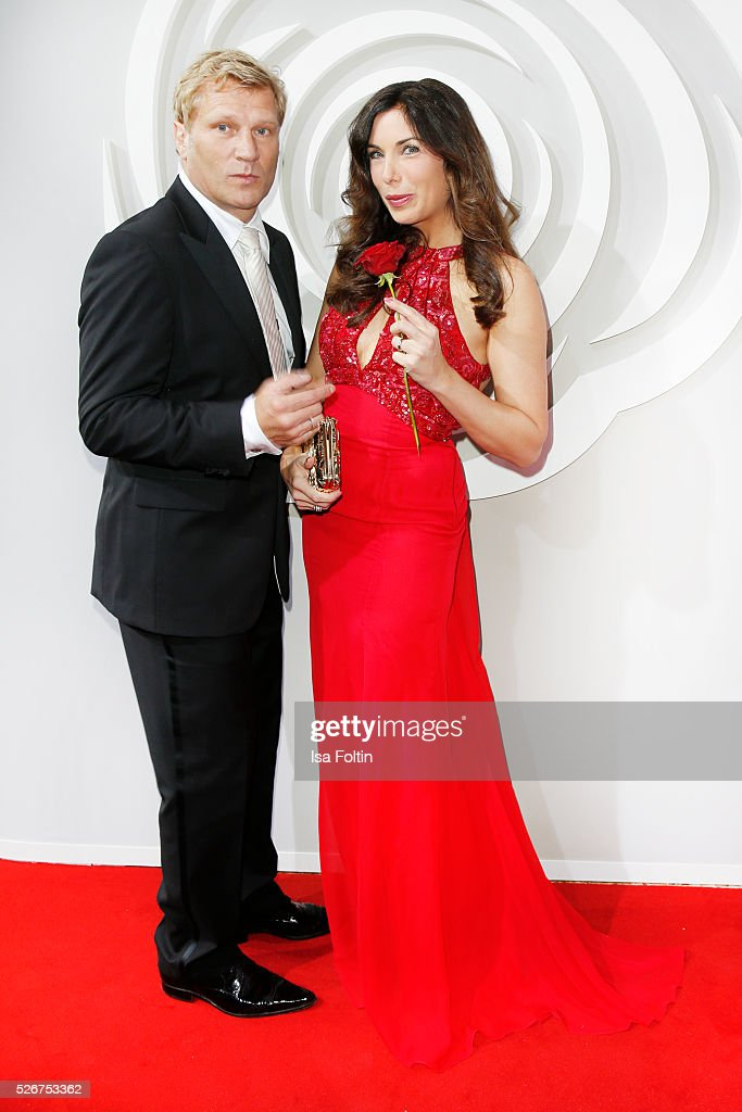 Gerhard Leinauer and Alexandra Polzin attend the Rosenball 2016 on April 30, 2016 in Berlin, Germany.
