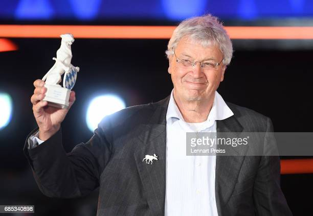 Gerhard Polt winner of the Honorary Award speaks during the Bayerischer Fernsehpreis 2017 show at Prinzregententheater on May 19 2017 in Munich...