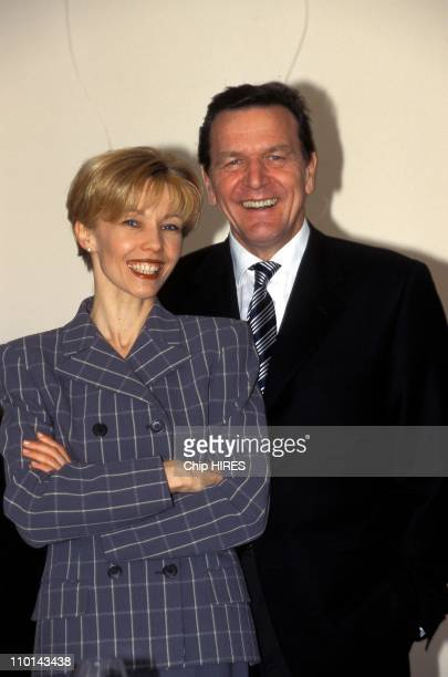 Gerhard Schroder Prime Minister of Lower Saxony in Germany in February 1998 Gerhard Schroeder with wife Doris