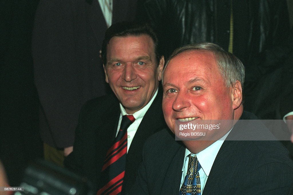 Gerhard Schroeder and Oskar Lafontaine
