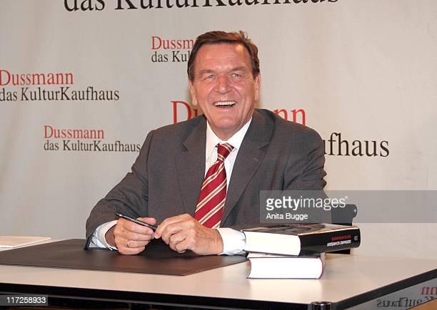 Gerhard Schroeder during Gerhard Schröder Book Signing in Berlin October 26 2006 in Berlin Berlin Germany