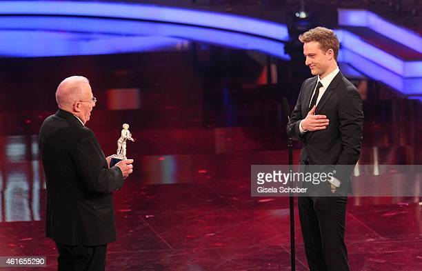Gerhard Wiese and Alexander Fehling during the Bavarian Film Award 2015 on January 16 2015 in Munich Germany