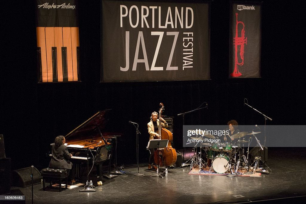Geri Allen, Esperanza Spalding and Terri Lyne Carrington of ACS (Allen Spalding Carrington) performs on stage at the PDX Jazz Festival on February 24, 2013 in Portland, Oregon.