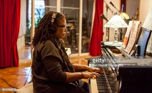 Geri Allen in recording session at Sear Sound for Ravi Coltrane's 'Spirit Fiction' CD for Blue Note Records December 21 2011 in New York City New York