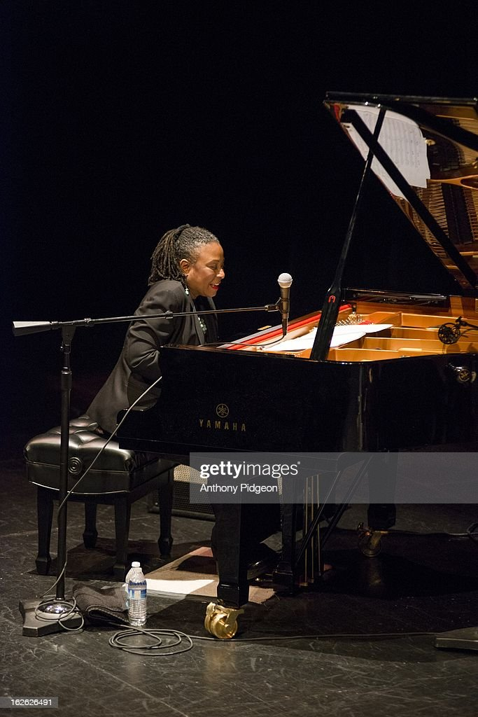 Geri Allen of ACS (Allen Spalding Carrington perform on stage at the PDX Jazz Festival on February 24, 2013 in Portland, Oregon.