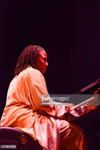 Geri Allen of Universal Consciousness performs onstage as part of the PDX Jazz Festival at Newmark Theatre on February 27 2016 in Portland Oregon