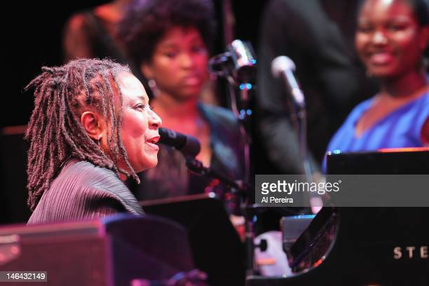 Geri Allen performs in 'Slow Fade To Black' a collaboration between Pianist Geri Allen and Artist Carrie Mae Weems during the 2012 Celebrate Brooklyn...