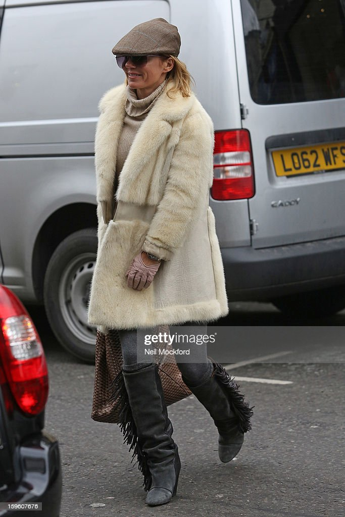 Geri Haliwell seen out and about on January 17, 2013 in London, England.