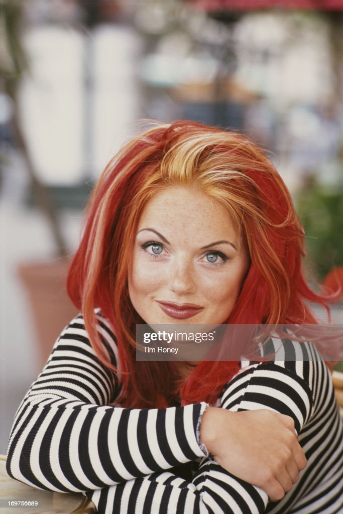 Geri Halliwell, aka Ginger Spice of the Spice Girls, in Paris, September 1996.