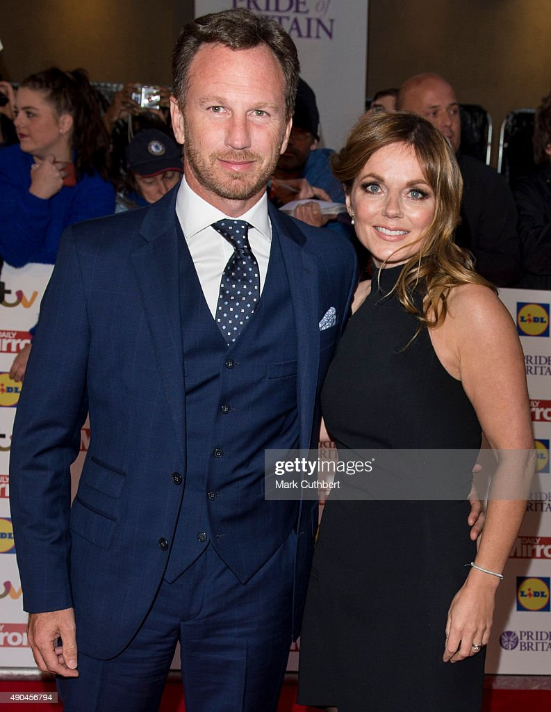 Geri Halliwell and Christian Horner attend the Pride of Britain awards at The Grosvenor House Hotel on September 28, 2015 in London, England.