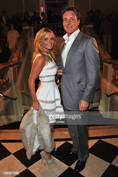 Geri Halliwell and Henry Beckwith attend the after party for the ELLE Style Awards 2011 at the Grand Connaught Rooms on February 14 2011 in London...