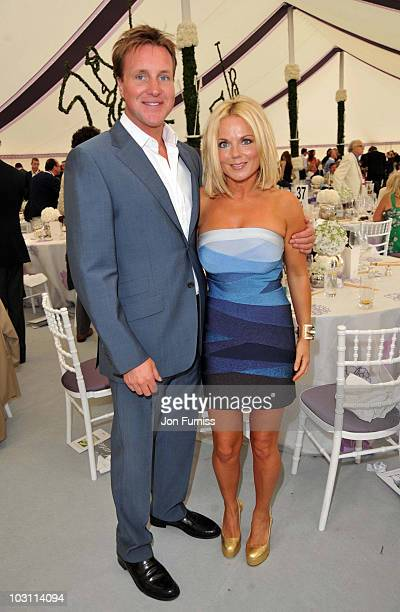 Geri Halliwell and Henry Beckwith attend the Cartier International Polo Day at Guards Polo Club on July 25 2010 in Egham England