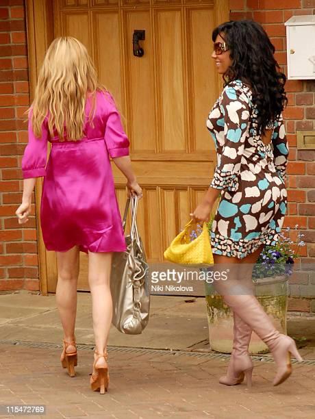 Geri Halliwell and Mel B during Emma Bunton Melanie Brown and Gerri Halliwell Sighting in London May 3 2007 in London Great Britain