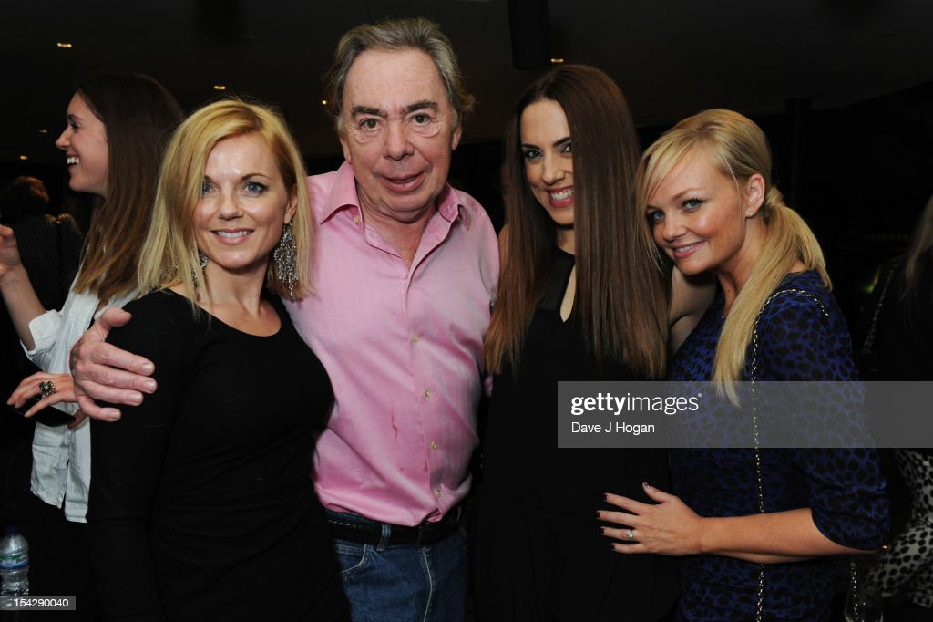 Geri Halliwell, <a gi-track='captionPersonalityLinkClicked' href=/galleries/search?phrase=Andrew+Lloyd+Webber&family=editorial&specificpeople=157705 ng-click='$event.stopPropagation()'>Andrew Lloyd Webber</a>, Mel C and <a gi-track='captionPersonalityLinkClicked' href=/galleries/search?phrase=Emma+Bunton&family=editorial&specificpeople=201973 ng-click='$event.stopPropagation()'>Emma Bunton</a> attend the party after a performance of Jesus Christ Superstar at The Hilton London Wembley on October 17, 2012 in London, England.