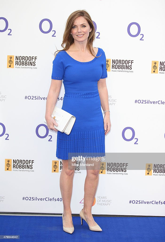 Geri Halliwell arrives at the Nordoff Robbins O2 Silver Clef Awards at The Grosvenor House Hotel on July 3, 2015 in London, England.