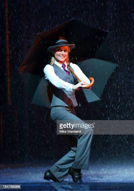 Geri Halliwell attends a photocall for Pop Goes The Musical Singin' In The Rain special performance on October 25 2012 in London England