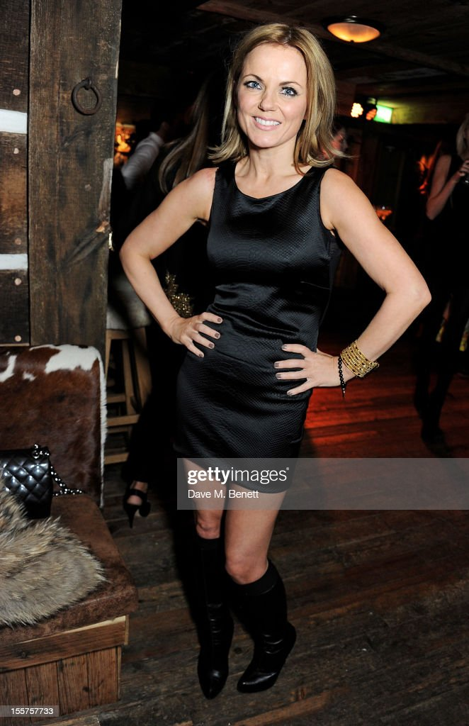 Geri Halliwell attends as Elizabeth Saltzman hosts a private dinner celebrating the launch of Piers Adam's new restaurant 'Bodo's Schloss' on High Street Kensington on November 7, 2012 in London, England.