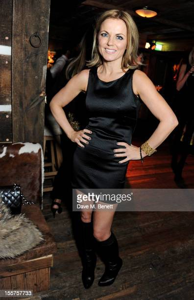 Geri Halliwell attends as Elizabeth Saltzman hosts a private dinner celebrating the launch of Piers Adam's new restaurant 'Bodo's Schloss' on High...