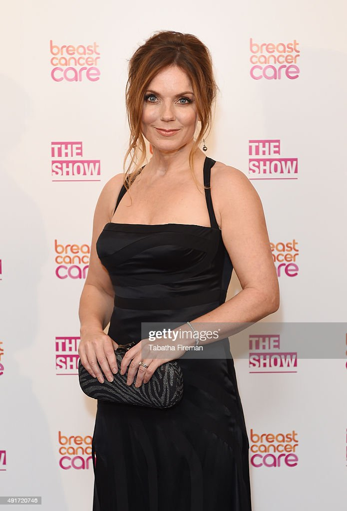 Geri Halliwell attends Breast Cancer Care's London fashion show at Grosvenor House Hotel to launch Breast Cancer Awareness Month, on October 7, 2015 in London, England.