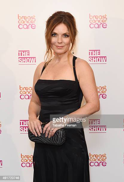 Geri Halliwell attends Breast Cancer Care's London fashion show at Grosvenor House Hotel to launch Breast Cancer Awareness Month on October 7 2015 in...