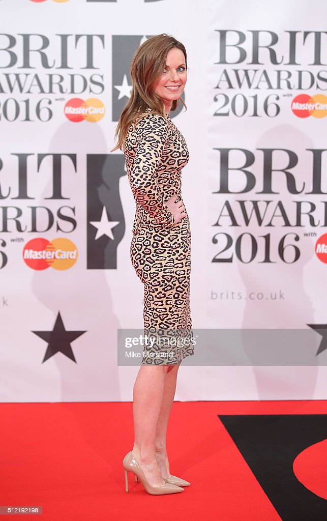 Geri Halliwell attends the BRIT Awards 2016 at The O2 Arena on February 24, 2016 in London, England.