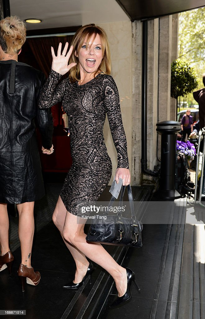 Geri Halliwell attends the Ivor Novello Awards at The Grosvenor House Hotel on May 16, 2013 in London, England.