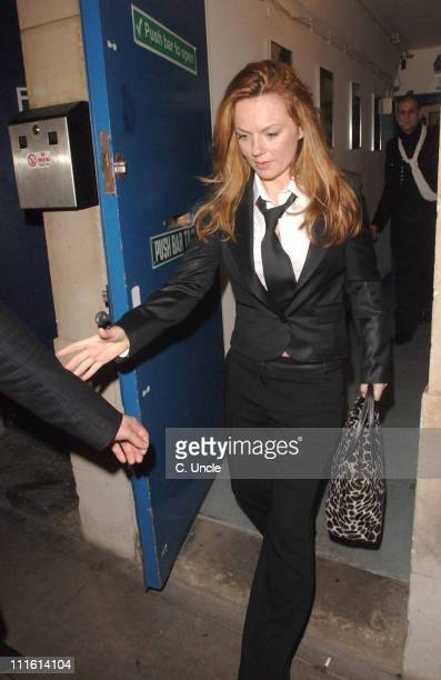 Geri Halliwell during 'Bent' Press Night Departures October 5 2006 at Trafalgar Studios in London Great Britain
