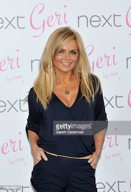 Geri Halliwell launches her new swimwear collection for Next at The Savoy Hotel on January 28 2011 in London England