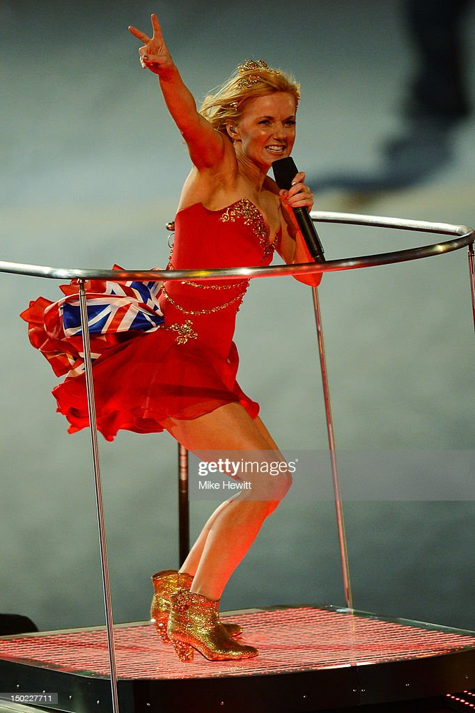 Geri Halliwell of The Spice Girls performs during the Closing Ceremony on Day 16 of the London 2012 Olympic Games at Olympic Stadium on August 12, 2012 in London, England.