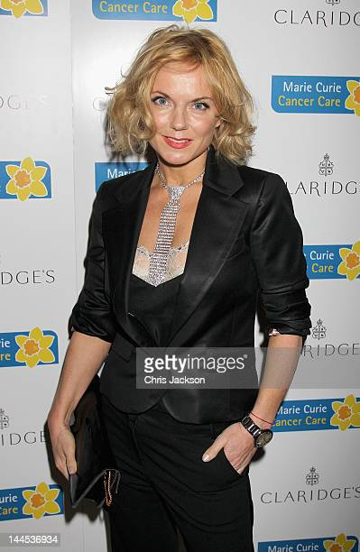 Geri Halliwell poses at the Marie Curie Cancer Care Fundraiser hosted by Heather Kerzner at Claridge's Hotel on May 15 2012 in London England Marie...