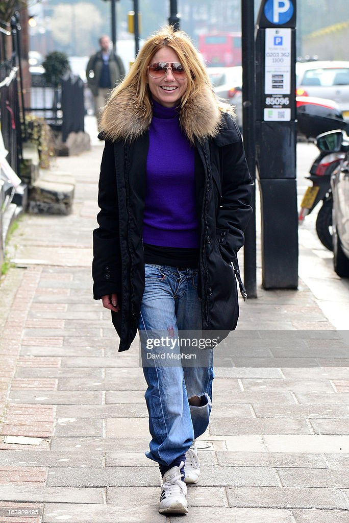 Geri Halliwell sighted in Highgate on March 18, 2013 in London, England.