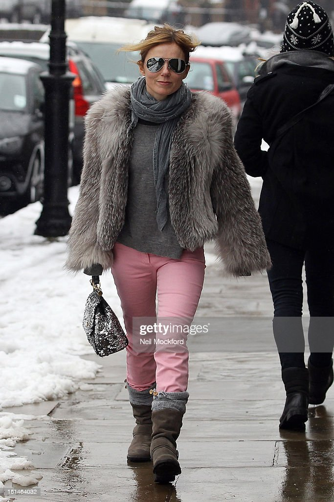 Geri Halliwell sighted on February 11, 2013 in Highgate, London, England.