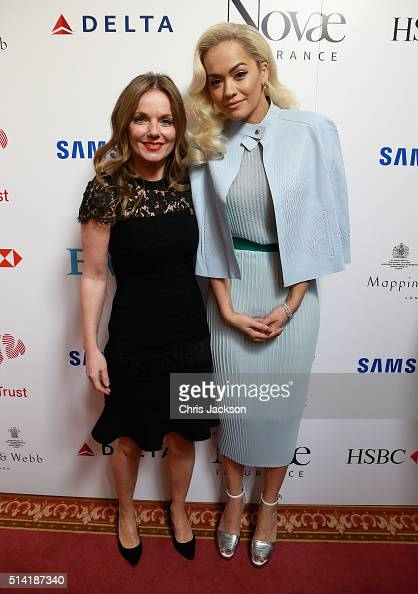 Geri Horner and Rita Ora backstage during the Prince's Trust Celebrate Success Awards at the London Palladium on March 7 2016 in London England