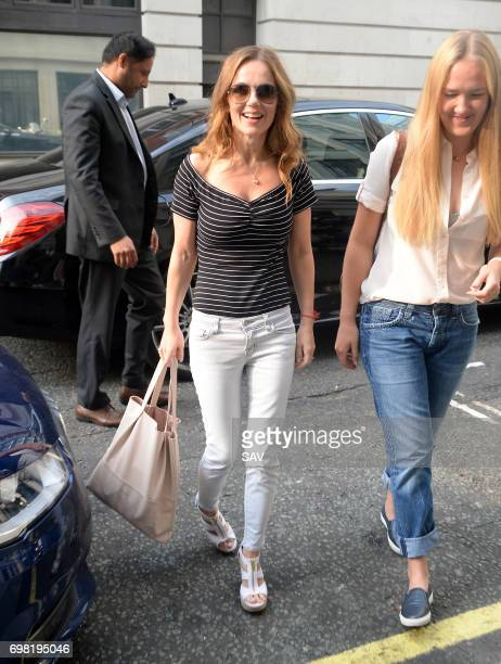 Geri Horner arrives at BBC Radio 2 on June 20 2017 in London England