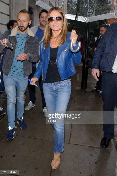 Geri Horner leaving BBC Radio studios on July 22 2017 in London England
