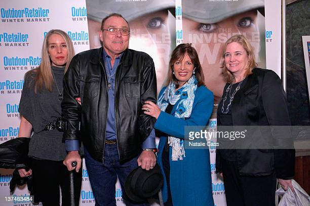 Geri Lynn Matthews Michael Matthews Jackie Speier and Susan Burke attend 'The Invisible War' premiere after party at Innovation Gallery on January 20...