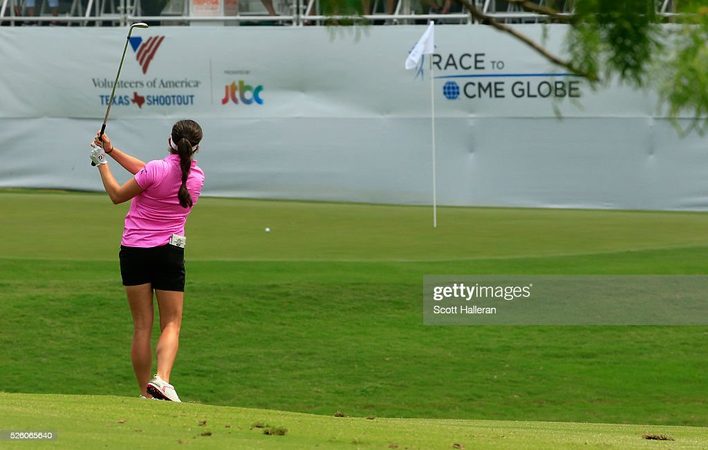 <a gi-track='captionPersonalityLinkClicked' href=/galleries/search?phrase=Gerina+Piller&family=editorial&specificpeople=7855082 ng-click='$event.stopPropagation()'>Gerina Piller</a> hits a shot to the 18th green during the second round of the Volunteers of America Texas Shootout at Las Colinas Country Club on April 29, 2016 in Irving, Texas.